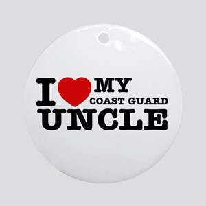 I love My Coast Guard Uncle Ornament (Round)