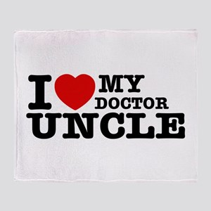 I love My Doctor Uncle Throw Blanket