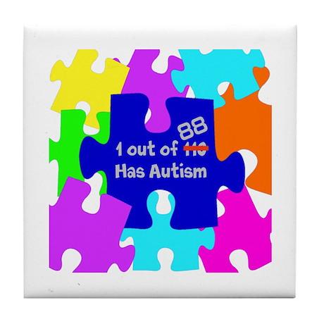 autismawareness2012 Tile Coaster