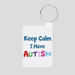 Autismawareness2012 Keep Calm Aluminum Photo Keych