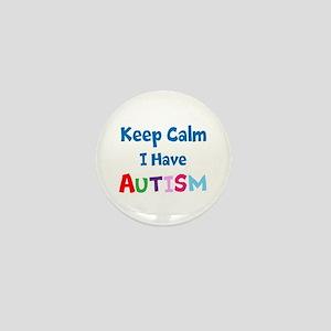 Autismawareness2012 Keep Calm Mini Button