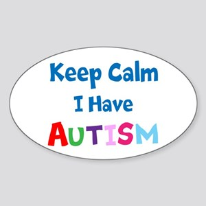 Autismawareness2012 Keep Calm Sticker (Oval)