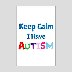 Autismawareness2012 Keep Calm Mini Poster Print
