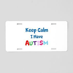 Autismawareness2012 Keep Calm Aluminum License Pla