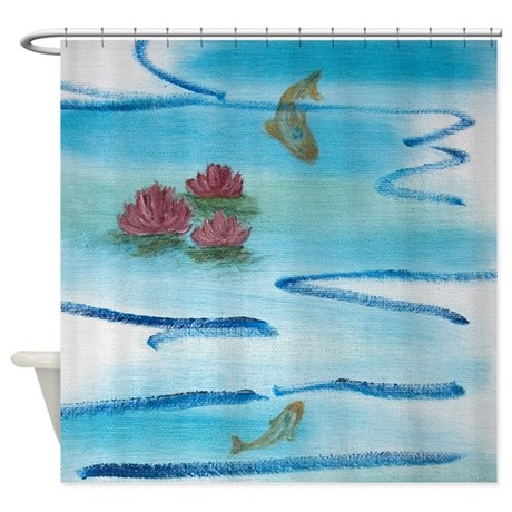 Lily Pond Shower Curtain By Uiad