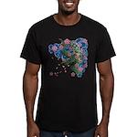 Houou sakura Men's Fitted T-Shirt (dark)