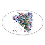 Houou sakura Sticker (Oval 10 pk)