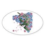 Houou sakura Sticker (Oval 50 pk)
