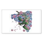 Houou sakura Sticker (Rectangle 10 pk)