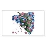 Houou sakura Sticker (Rectangle 50 pk)