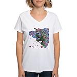 Houou sakura Women's V-Neck T-Shirt