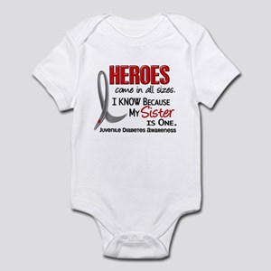 Heroes All Sizes Juv Diabetes Infant Bodysuit