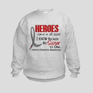 Heroes All Sizes Juv Diabetes Kids Sweatshirt