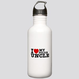 I love My Police Uncle Stainless Water Bottle 1.0L