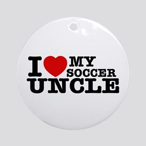 I love My Soccer Uncle Ornament (Round)