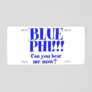 BLUE PHI Aluminum License Plate