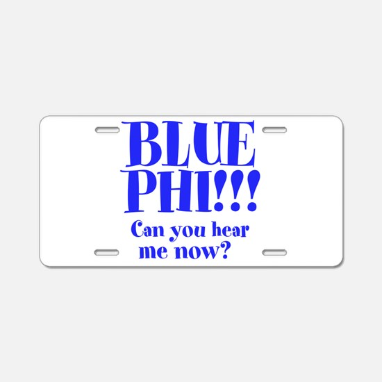 BLUE PHI Aluminum License Plate