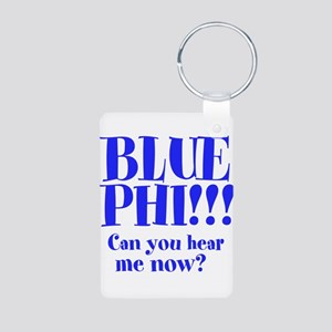 BLUE PHI Aluminum Photo Keychain