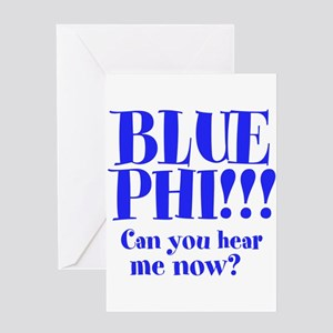 BLUE PHI Greeting Card