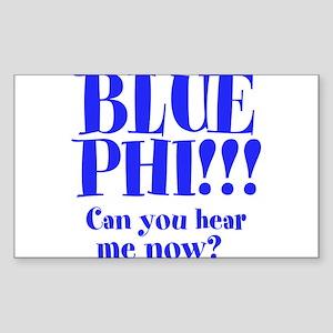 BLUE PHI Sticker (Rectangle)