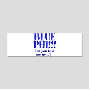 BLUE PHI Car Magnet 10 x 3