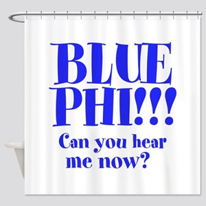 BLUE PHI Shower Curtain