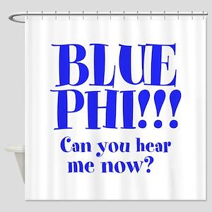 BLUE PHI Shower Curtain