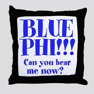 BLUE PHI Throw Pillow