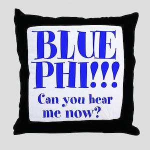 BLUE PHI Throw Pillow