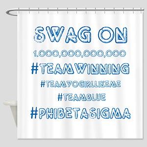 Phi Beta Sigma Swag Shower Curtain