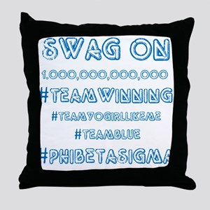 Phi Beta Sigma Swag Throw Pillow