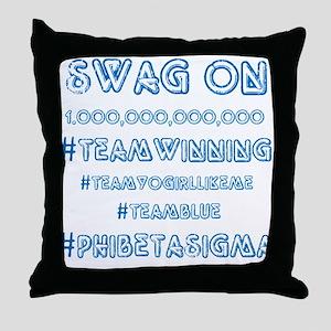 Phi Beta Sigma Swag Throw Pillow