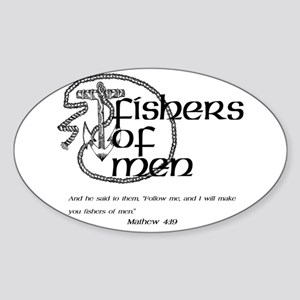 Fishers of Men Sticker (Oval)