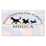 Mixed Breed Dog Club of Ameri Sticker (Rectangle 1