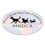 Mixed Breed Dog Club of Ameri Sticker (Oval 10 pk)