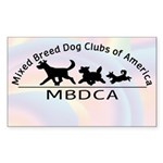 Mixed Breed Dog Club of Ameri Sticker (Rectangle)