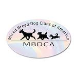 Mixed Breed Dog Club of Ameri 38.5 x 24.5 Oval Wal