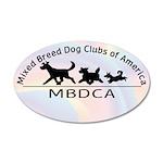 Mixed Breed Dog Club of Ameri 22x14 Oval Wall Peel
