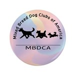 """Mixed Breed Dog Club of Ameri 3.5"""" Button (100 pac"""