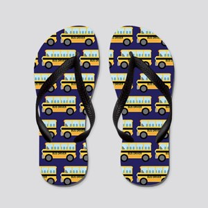 School Bus Driver Navy Flip Flops