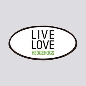 Live Love Hedgehogs Patches