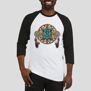 Turquoise Tortoise Dreamcatcher Baseball Jersey