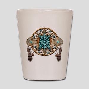 Turquoise Tortoise Dreamcatcher Shot Glass