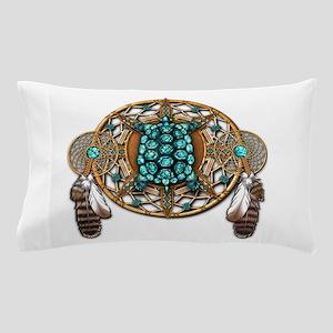 Turquoise Tortoise Dreamcatcher Pillow Case