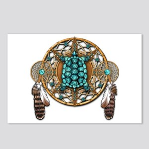 Turquoise Tortoise Dreamcatcher Postcards (Package