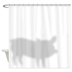 Funny Pig Shadow Shower Curtain