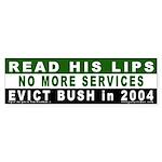Read His Lips: No More Services Sticker
