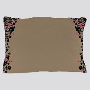 Floral Butterfly mocha Pillow Case