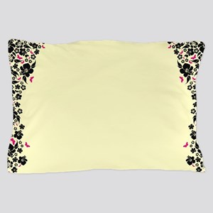 Floral Butterfly cream Pillow Case