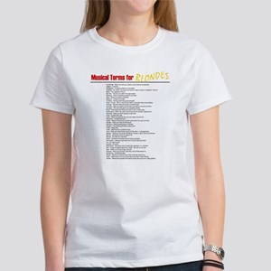 Musical Terms for Blondes Women's T-Shirt